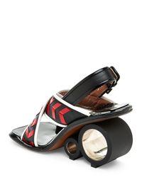 Marni - Black & Red Geometric Roller Open Toe Sandals - Lyst