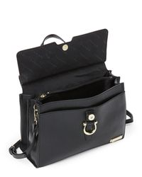 Tahari Black Glamper Convertible Satchel