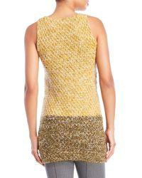 Missoni - Yellow Knit Tunic Top - Lyst