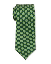 Ike Behar - Green Olive Silk Tie for Men - Lyst