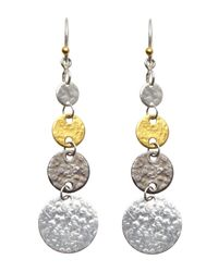 Gurhan - Metallic Sterling Silver & 24K Graduated Earrings - Lyst