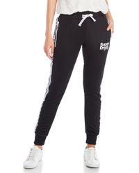 Superdry - Black Fashion Fitness Drawstring Track Pants - Lyst
