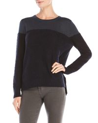 Shae - Blue Color Block Sweater - Lyst