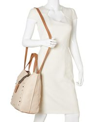 Nine West - Natural Toasted Oat & Dark Camel Casual Tassel Tote - Lyst