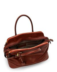 London Fog - Brown Russet Preston Satchel - Lyst