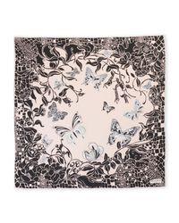Emilio Pucci - Pink Printed Square Silk Scarf - Lyst