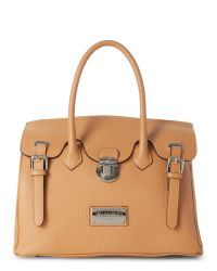 Valentino By Mario Valentino | Brown Almond Theresa Dollaro Satchel | Lyst