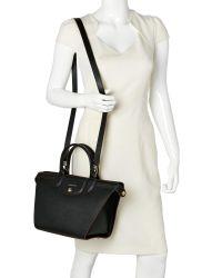 Longchamp - Black Le Pliage Héritage Medium Satchel - Lyst