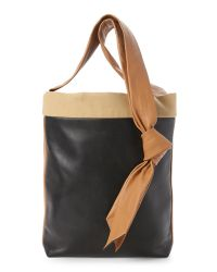 Céline - Black Band Twisted Cabas Tote - Lyst