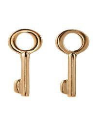Marc By Marc Jacobs | Metallic Gold-Tone Key Stud Earrings | Lyst