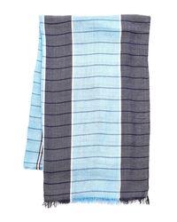 English Laundry - Blue Lightweight Check Scarf - Lyst