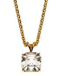 Fantasia by Deserio | Black 14K Yellow Gold-Plated Necklace & Cubic Zirconia Pendant | Lyst