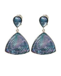 Stephen Dweck - Blue Mother-of-pearl & Hematite Etched Drop Earrings - Lyst