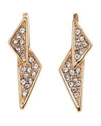 Rebecca Minkoff | Metallic Gold-Tone Double Triangle Earrings | Lyst