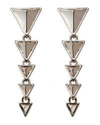 House of Harlow 1960 | Metallic Silver-Tone Triangle Drop Earrings | Lyst
