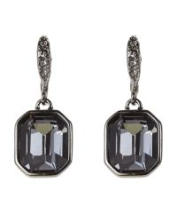 Givenchy | Metallic Hematite-Tone Square-Shaped Earrings | Lyst