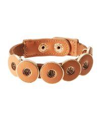 Natasha Couture - Brown Tan Embellished Snap Bracelet - Lyst