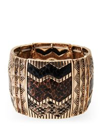 Natasha Couture - Multicolor Animal Print Bangle - Lyst