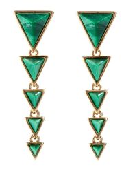 House of Harlow 1960 - Gold-Tone & Green Earrings - Lyst