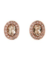 Givenchy - Multicolor Rose Gold-Tone Havasu Oval Button Earrings - Lyst