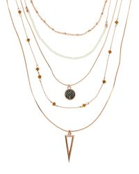 Vince Camuto | Metallic Rose Gold-Tone Multi Strand Necklace | Lyst