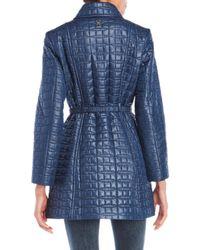 Kate Spade | Blue Quilted Belt Jacket | Lyst