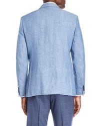 Tommy Hilfiger Blue Washed Linen Sport Coat for men