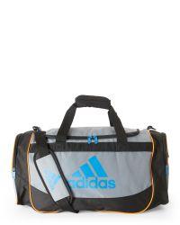 Adidas Originals   Black Grey & Orange Defense Medium Duffel Bag for Men   Lyst