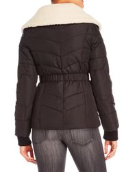 Lucky Brand - Black Sherpa-lined Down Jacket - Lyst
