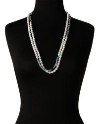 Tara Pearls - Multicolor Freshwater Pearl & Fluorite Necklace - Lyst