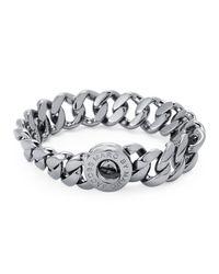 Marc By Marc Jacobs - Metallic Hematite-tone Turn-lock Bracelet - Lyst