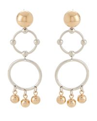 Eddie Borgo - Metallic Gold-tone & Silver-tone Barbell Chandelier Earrings - Lyst