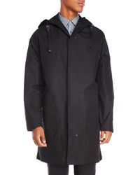 Lanvin Black Technical Slim Fit Duffel Coat for men