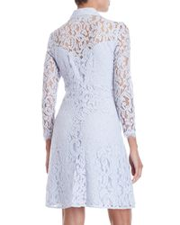 Nanette Nanette Lepore - Blue Long Sleeve Lace A-line Dress - Lyst