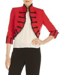 Zelda - Red Benita Cropped Napoleon Jacket - Lyst