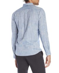 Descendant Of Thieves - Blue Button Front Shirt for Men - Lyst