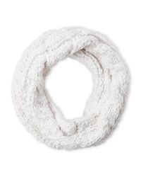 Betsey Johnson - White Cable Knit Cowl Scarf - Lyst