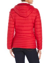 MICHAEL Michael Kors - Red Packable Down Fill Parka - Lyst