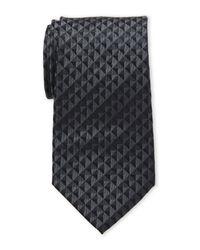 Calvin Klein - Black Optic Geo Silk Tie for Men - Lyst