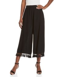 Do+Be Collection - Black Tassel Trim Pants - Lyst