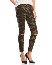 colcci - Green Camo Skinny Jeans - Lyst