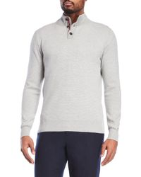 Tommy Hilfiger | Gray Mock Neck Knit Pullover for Men | Lyst