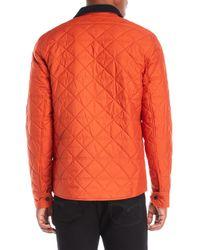 Victorinox | Orange Diamond Quilted Jacket for Men | Lyst