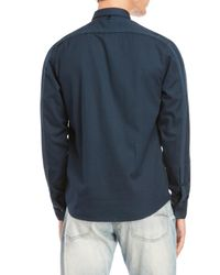 W.r.k. - Blue Quilted Grant Shirt Jacket for Men - Lyst