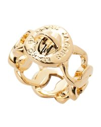 Marc By Marc Jacobs - Metallic Gold-tone Katie Ring - Lyst