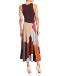 Missoni - Brown Cashmere Patchwork Sweater Dress - Lyst