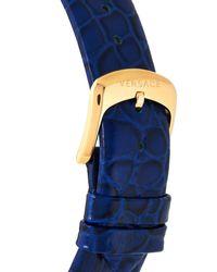 Versace | Metallic Var090017 Gold-tone & Blue Watch | Lyst