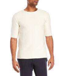 Natural Selection - White Tennis Short Sleeve Sweater for Men - Lyst