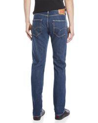 Levi's Blue 501 Straight Leg Jeans for men