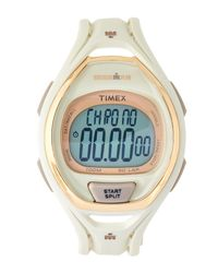 Timex - White Tw5m06100 Cream & Gold-tone Ironman Watch - Lyst